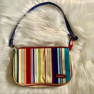 Longaberger Striped handbag EUC